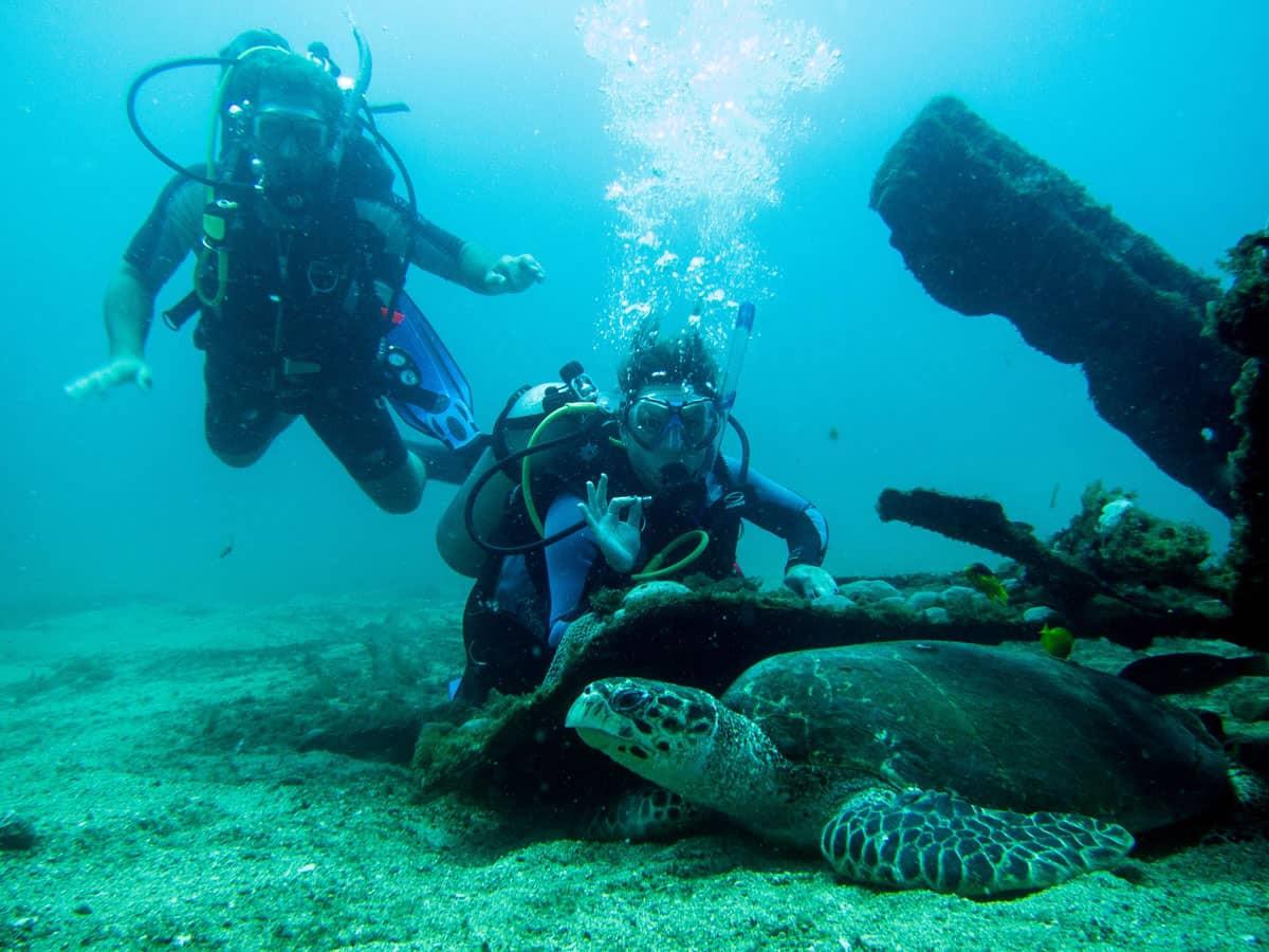 Mergulho no naufrágio da Draguinha
