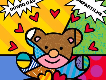 Romero Britto lança livro de colorir gratuito para família