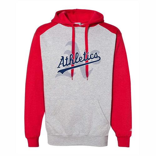 Badger - RED - Athletic Fleece Hoodie - A's D1