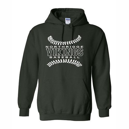 Hooded Sweatshirt - FOREST GREEN - D2 - NYAA BB