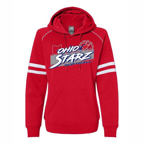 Ladies Hooded Sweatshirt - RED - D3 - OSS