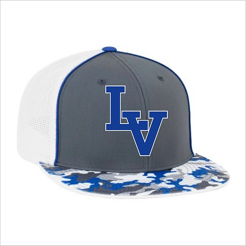 LVF PACIFIC TRUCKER FLEXFIT® CAP BLUE