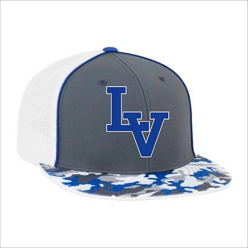 LVF PACIFIC TRUCKER FLEXFIT® CAP BLUE