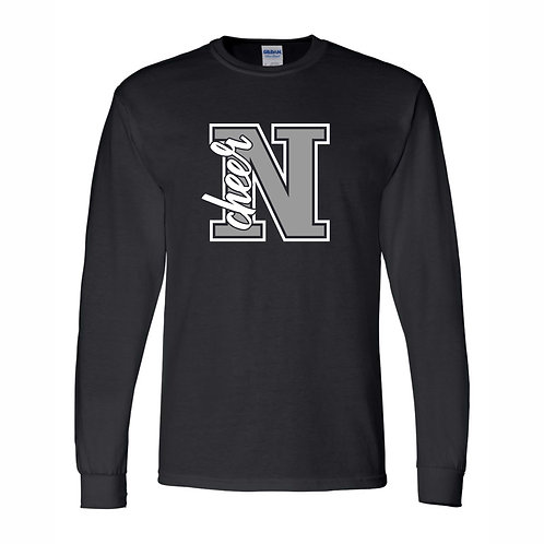 NHS Cheer BLACK Long Sleeve Shirt D3