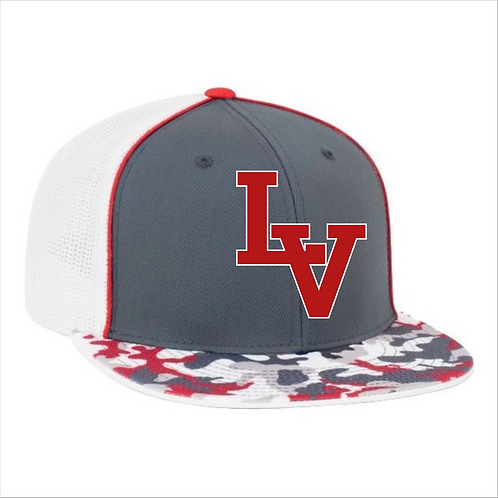 LVF PACIFIC TRUCKER FLEXFIT® CAP RED