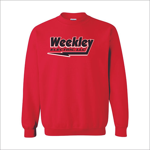 Weekley - Crewneck Sweatshirt - RED - MC21