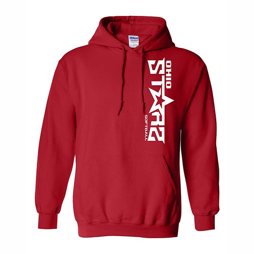 Hooded Sweatshirt - RED - D1 - OSS