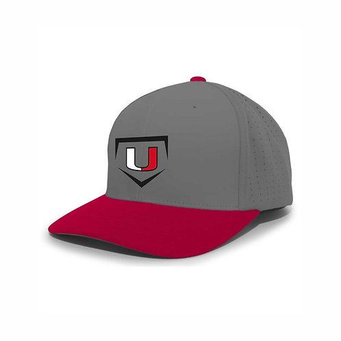 Baseball Hat - Grey/Red - UB2021