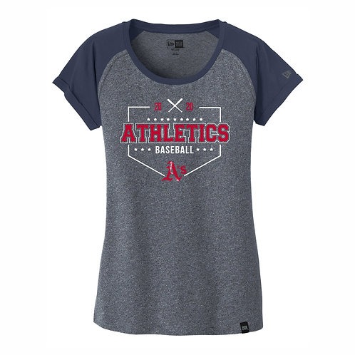 NEW Era® - NAVY- Ladies Varsity Tee - A's D3