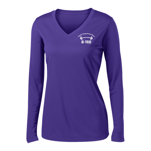 Ladies Long Sleeve Dri-Fit V Neck