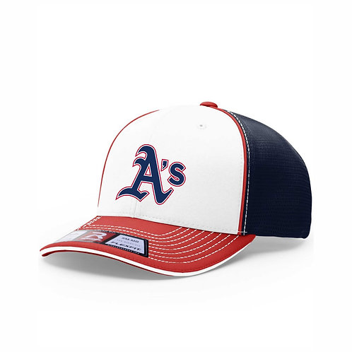 Richardson - Fitted Sportmesh Cap with R-Flex- A's EMB4