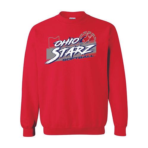 Crewneck Sweatshirt - RED - D3 - OSS