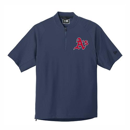New Era® - NAVY - Cage Short Sleeve 1/4-Zip Jacket  - A's EMB1