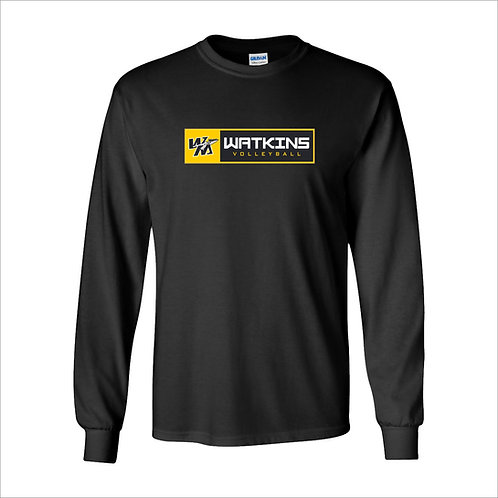 WMV Black Watkins Long Sleeve T-Shirt D2