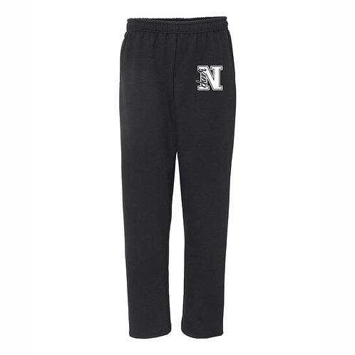 NHS Cheer BLACK Open Bottom Sweatpants