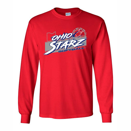 Long Sleeve T - RED - D3 - OSS