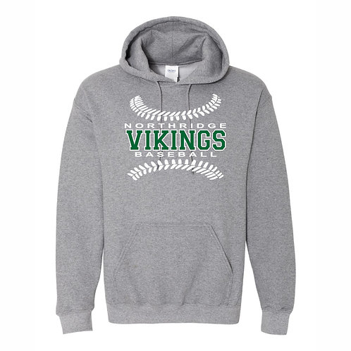 Hooded Sweatshirt - GRAPHITE - D1 - NYAA BB