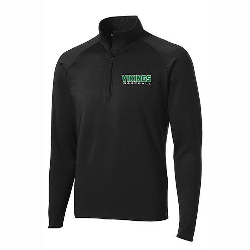 Quarter Zip Sport Jacket - BLACK - NYAA BB