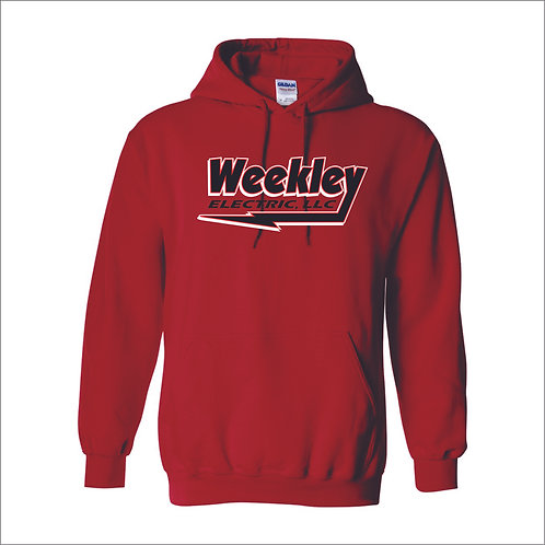 Weekley - Hooded Sweatshirt - RED - MC21