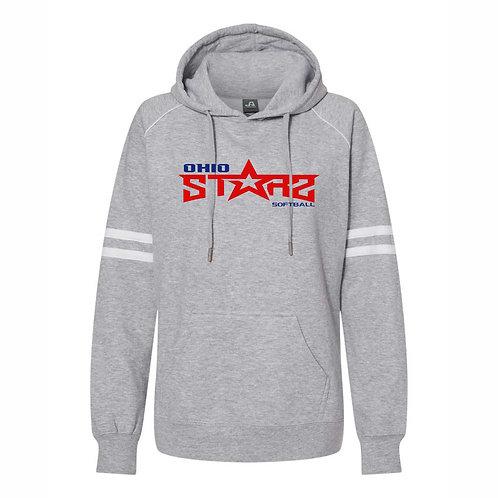 Ladies Hooded Sweatshirt - GREY - D2 - OSS