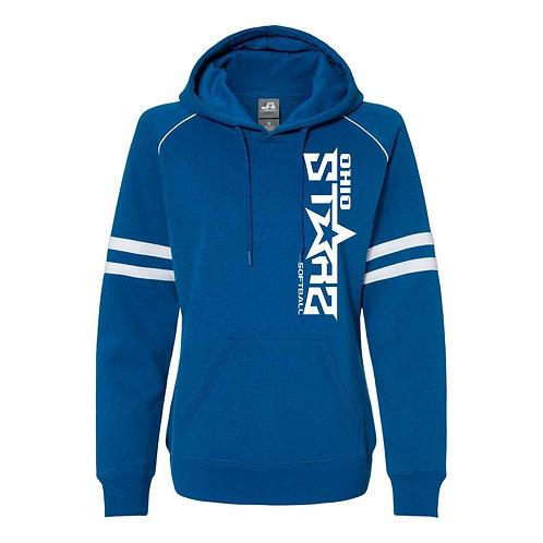 Ladies Hooded Sweatshirt - BLUE - D1 - OSS