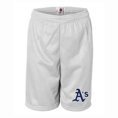 WHITE - Pro Mesh Shorts - A's
