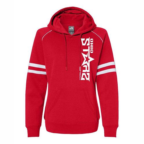 Ladies Hooded Sweatshirt - RED - D1 - OSS