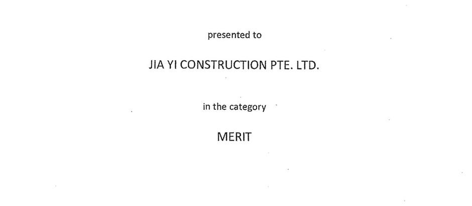 Jia Yi Construction Has Been Awarded The Green & Gracious Builder Award