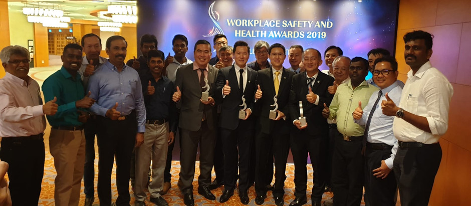 Jia Yi Construction Won 2 Awards At The  Workplace Safety & Health Awards 2019