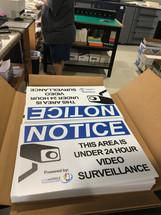 Security posters printed on gatorboard _ SPKF