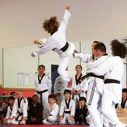 flying jackie chan kick
