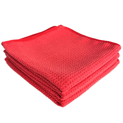 Red Dragon Waffle Weave Towel