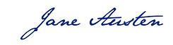 jane austen, france, northanger abbey,signature, écriture