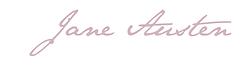 Jane austen, france, signature, écriture