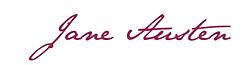 Jane austen, france, français, signature, écriture
