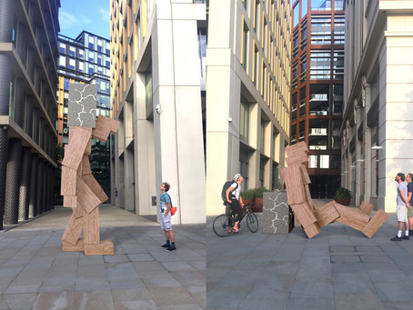 DESIGNER STEUART PADWICK CREATES 16FT SCULTPURES IN SUPPORT OF CHARITY TIME TO CHANGE