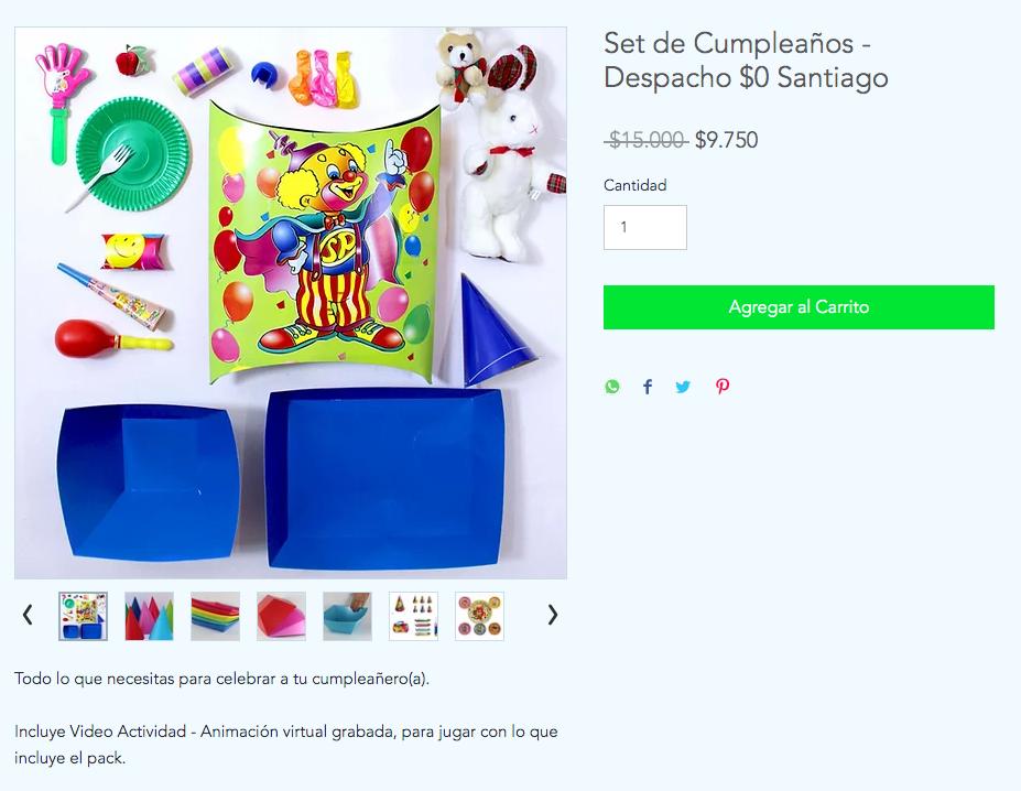 pack de cumpleaños infantil niños