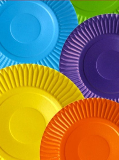 Plato carton colores (10 unidades)