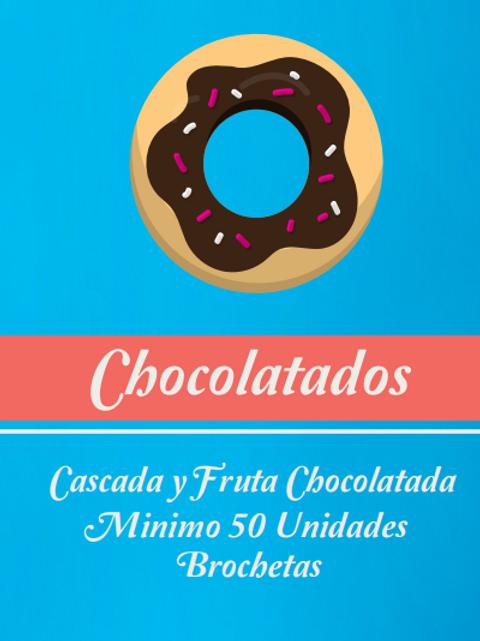 🍫🍓 Fruta chocolatada (brocheta 50 u)