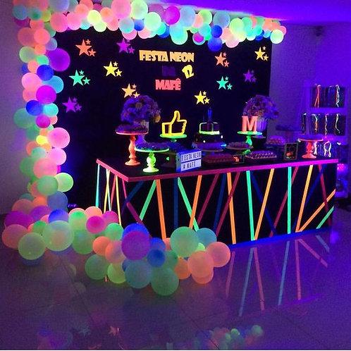 Discopeque LED/ DJ Fiesta Kids / Pintacaritas Fluor