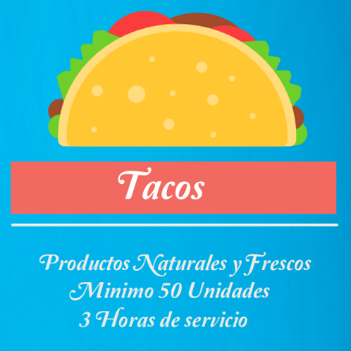 🌯🌮 Burritos - Tacos - Fajitas (50u)