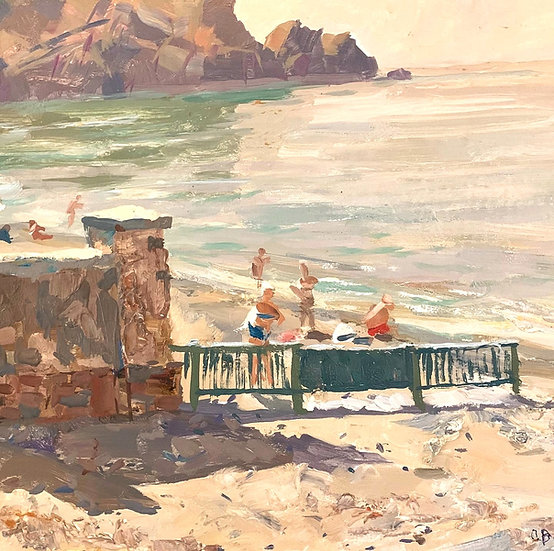 """Morning in Sudak"" (1964) by Aleksey Grigorievich Varlamov (1920-2000))"