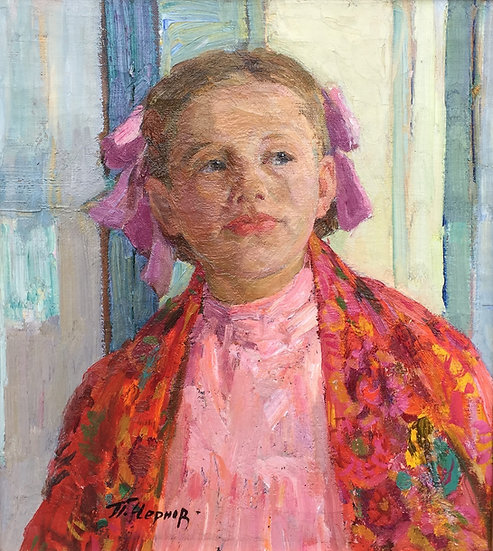 """""""Little Ludmila"""" (1962) by Pavel Afanasievich Chernov  (1918-2003)"""