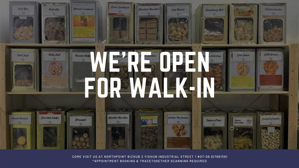 We're Open for Walk-In!