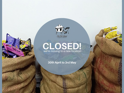 We're closed from 30th April to 3rd May!