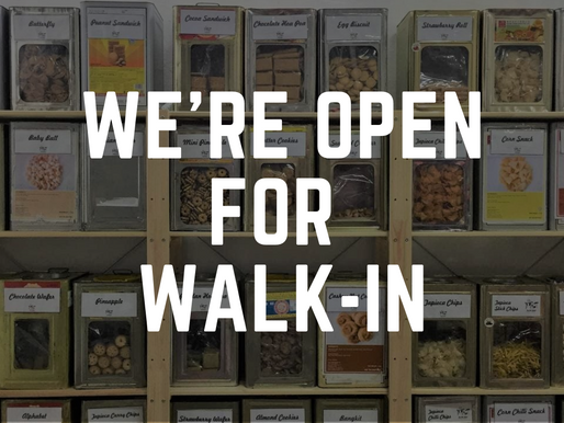 We're Open for Walk-In!