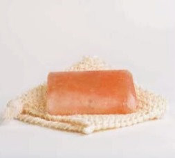 Jabón de sal rosada para masajes. Una unidad