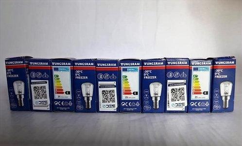 10 Ampolletas de refrigerador 25 W / 230 V / E-14  incandescente marca