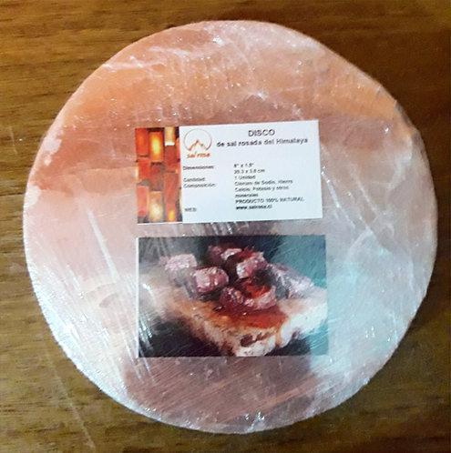 DISCO de sal rosada  diametro 20 cm  + 4 cm