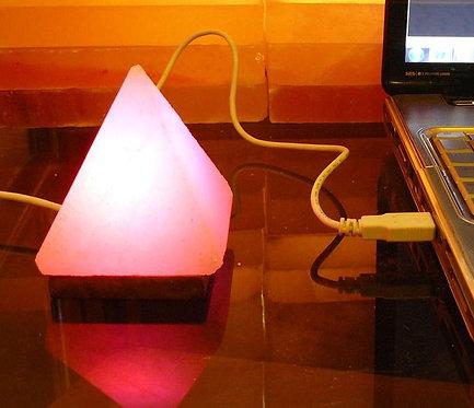 Lámpara USB PIRAMIDE + regalo bolsita con sal para baño